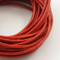 Red Leather Thonging 2mm Round 5 Metres