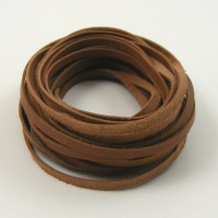 5 Metres Flat Light Brown Leather Thonging 3mm x 1mm