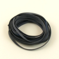 5 Metres Flat Navy Blue Leather Thonging 3mm x 1mm