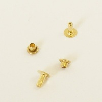 6.5mm Brass Rivets - 6mm Cap
