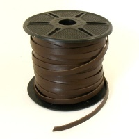 6mm Flat Dark Brown Leather Lacing 5 Metres