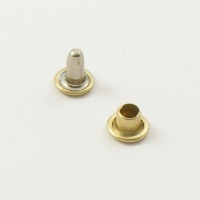 7mm Double Cap Brass Rivets - 7mm Cap