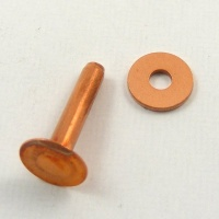 8 Gauge  (Medium) Copper Rivets - Pack of 10