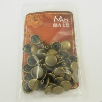 9mm Double Cap Antiqued Brass Rivets