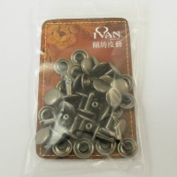 9mm Double Cap Antiqued Nickel Rivets