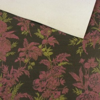 1.3mm Black & Pink Floral Print Leather A4
