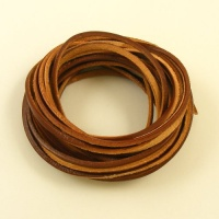 3x2mm Brown Leather Thonging 5m