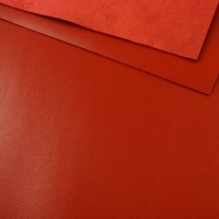 1.2 - 1.4mm Bright Red Calf Leather 30 x 60cm