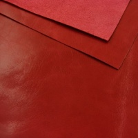 0.8-1mm Glossy Cowhide Red A4