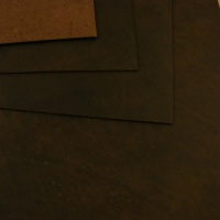 2mm Dark Brown Rustic Style Leather A4