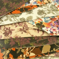 Flower Print Leather Pieces 500g Pack