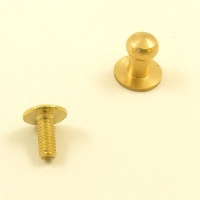 Medium Sam Browne Stud - Brass - Pack of 10