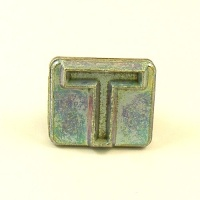 20mm Modern Letter T Embossing Stamp
