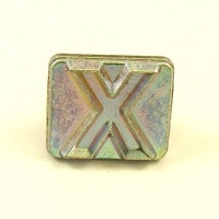20mm Modern Letter X Embossing Stamp
