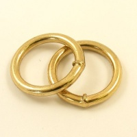 REDUCED O Ring Brass Plated Iron 25mm 1inch