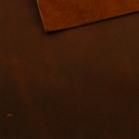 1.8-2mm Chestnut Brown Crease Texture Rustic Style Leather A4