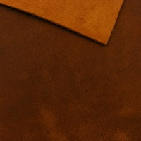 1.8-2mm Gingerbread Crease Texture Rustic Style Leather A4