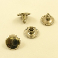 7mm Stem WIDE Double Cap Nickel Plated Rivets