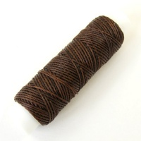 0.4mm Fine Brown Synthetic Waxed Thread