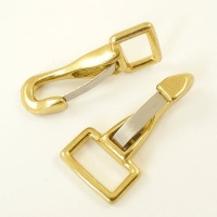 Large Snap Clip Cast Brass 25mm Eye