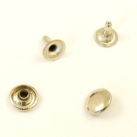 ECONOMY RIVETS  9mm Stem 10mm Cap  Nickel Plated