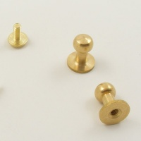 Large Tall Sam Browne Stud - Brass - Pack of 2
