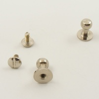 Large Tall Sam Browne Studs - Silver - Pack of 10