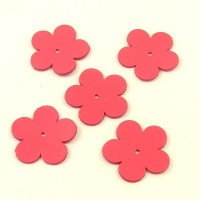 Leather Flowers - Large Bright Pink