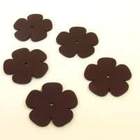 Leather Flowers - Large Metallic Purple (2)