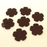 Leather Flowers - Medium Metallic Purple (2)