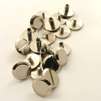 Wide 5mm Leather Joining Screws - Nickel Plated - Pack of 10
