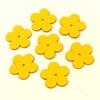 Medium Flowers - Bright Yellow Leather
