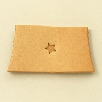 O54 Leather Embossing Stamp Tiny Flat Star Shape
