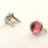 PINK 7mm Crystal Studs