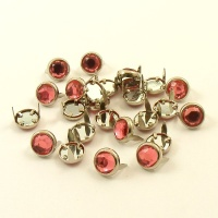 PINK Crystal Studs 10mm