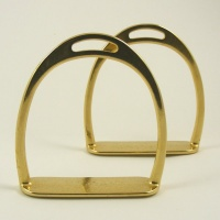 Small Brass Rocking Horse Stirrups