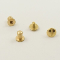Small Narrow Sam Browne Stud - Brass - Pack of 10