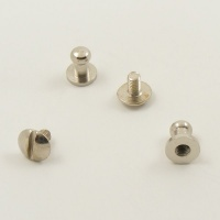 Small Narrow Sam Browne Stud - Silver - Pack of 10