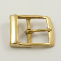 Solid Brass Rectangle Belt Buckle 1 1/2 inch 38mm