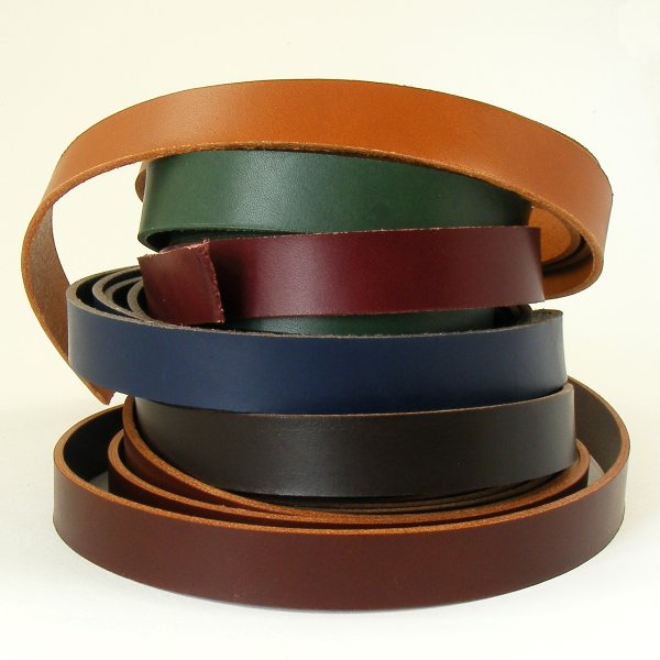 Coloured Veg Tan Leather Strips