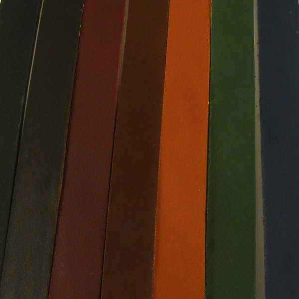 2-2.5mm Coloured Veg Tan Leather Strips