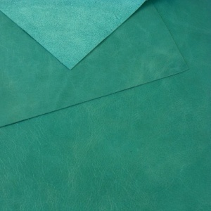 0.8-1mm Glossy Cowhide Turquoise 30x60cm