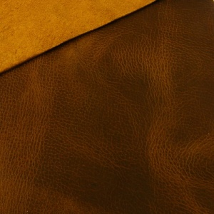 1.8-2mm Mid Tan Crease Texture Rustic Style Leather A4