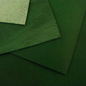 1.8-2mm Emerald Green Rustic Style Leather A4