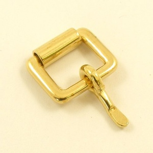 12mm 1/2'' Cast Brass Single Roller Buckle