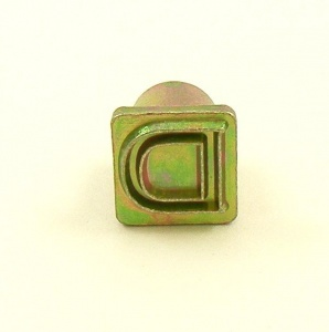 12mm Modern Letter D Embossing Stamp