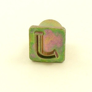 12mm Modern Letter J Embossing Stamp