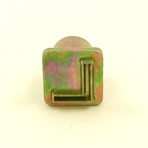 12mm Modern Letter L Embossing Stamp
