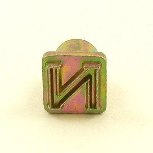 12mm Modern Letter N Embossing Stamp