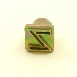 12mm Modern Letter Z Embossing Stamp